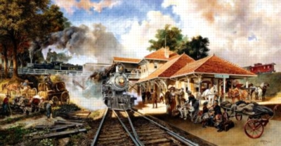 Whistle Stop - 500pc Jigsaw Puzzle By Sunsout
