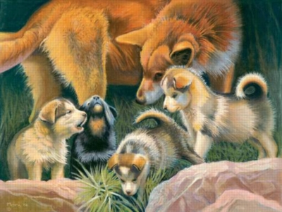 Prancing with Wolves - 500pc Jigsaw Puzzle By Sunsout