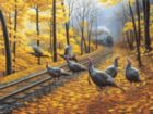 Turkey Tracks - 500pc Jigsaw Puzzle By Sunsout