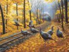 Turkey Tracks - 500pc Jigsaw Puzzle By Sunsout
