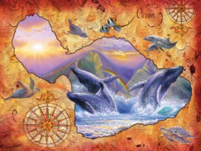 Whale Play - 500pc Jigsaw Puzzle By Sunsout