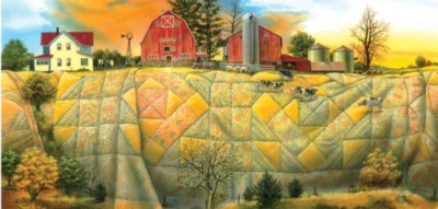 Quilting the Land - 1000pc Jigsaw Puzzle By Sunsout