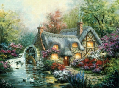 Spring Puzzles - Cottage Mill