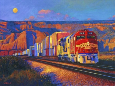 New Mexico Moon - 1000pc Jigsaw Puzzle By Sunsout