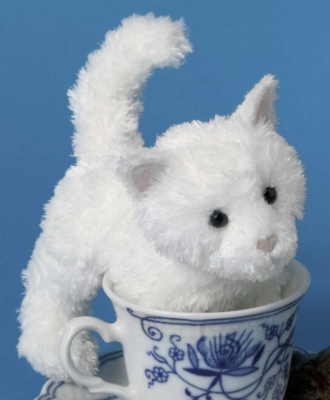 "White Flannel - 6"" Cat by Douglas Cuddle Toys"