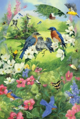 Garden Birds - 1000+pc Family Style Jigsaw Puzzle by Sunsout