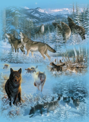 Wolf Cameos - 1500pc Jigsaw Puzzle By Sunsout