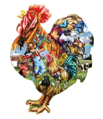 Shaped Jigsaw Puzzles - Barnyard Strut