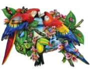Shaped Jigsaw Puzzles - Parrots in Paradise
