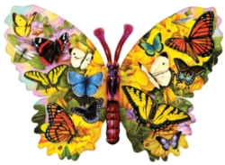 Shaped Jigsaw Puzzles - Wings of Color