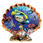 Souvenirs of the Sea - 1000pc Shaped Jigsaw Puzzle By Sunsout
