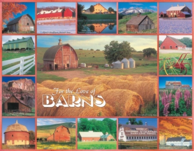 For the Love of Barns - 1000pc Jigsaw Puzzle by White Mountain