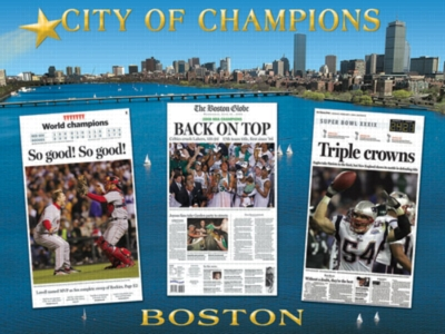 Boston Globe: City of Champions - 550pc Jigsaw Puzzle by White Mountain