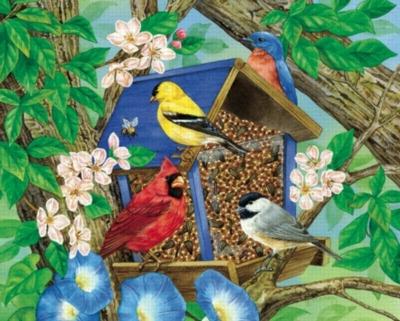 Breakfast Birdhouse - 1000pc Jigsaw Puzzle by White Mountain