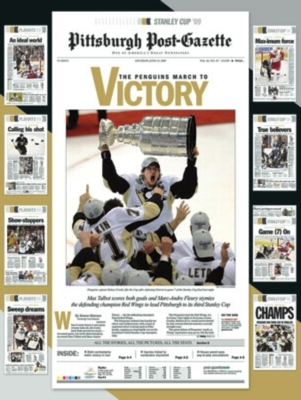 Pittsburgh Post-Gazette: Penguins March to Victory - 550pc Jigsaw Puzzle by White Mountain