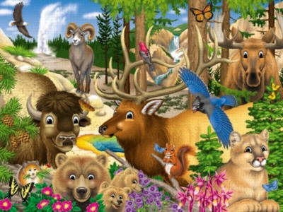 Yellowstone Friends - 300pc Jigsaw Puzzle by White Mountain