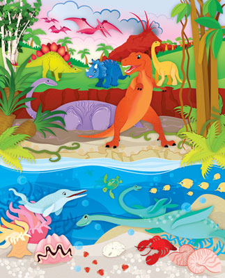 Dinosaurs - 60pc Jigsaw Puzzle by Masterpieces