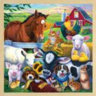 Farm Friends with Fun Facts - 48pc Wooden Tray Puzzle by Masterpieces