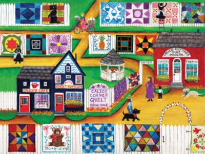 Calico Quilt Show - 300pc Large Format Jigsaw Puzzle by Masterpieces