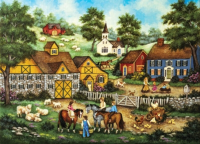 Barnyard Meeting - 500pc Jigsaw Puzzle by Masterpieces