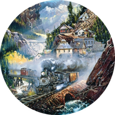 Silver Belle Run - 500pc Round Jigsaw Puzzle by Masterpieces