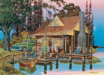 Grandpa's Cabin - 750pc Jigsaw Puzzle by Masterpieces