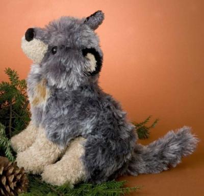 Dusk Sitting Wolf - 10'' Wolf By Douglas Cuddle Toys