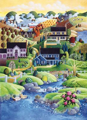 Scenic Route: Canterbury Creek - 1000pc Jigsaw Puzzle in Tin by Masterpieces