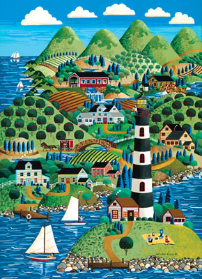Scenic Route: Lighthouse Island - 1000pc Jigsaw Puzzle in Tin by Masterpieces