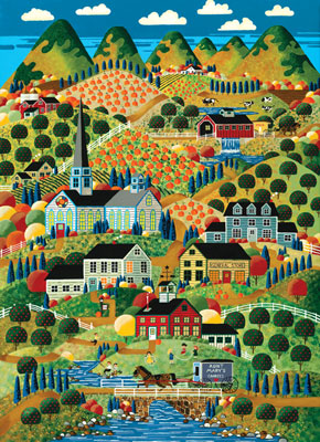 Scenic Route: Our Little Town - 1000pc Jigsaw Puzzle in Tin by Masterpieces