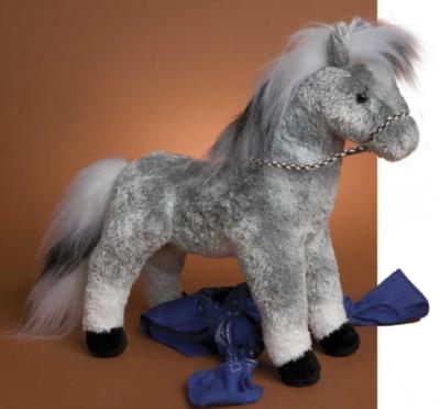 Storm Grey - 13'' Horse By Douglas Cuddle Toys
