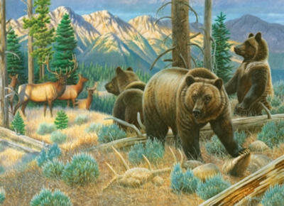 Wildlife Masters: Sharing the High Country - 1000pc Jigsaw Puzzle by Masterpieces