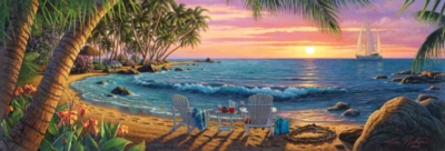 Summer Breeze - 1000pc Panoramic Jigsaw Puzzle by Masterpieces