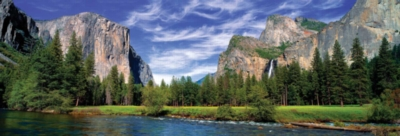 Yosemite Valley - 1000pc Panoramic Jigsaw Puzzle by Masterpieces