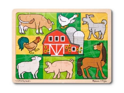 Melissa and Doug Jigsaw Puzzles for Kids - Patchwork Farm