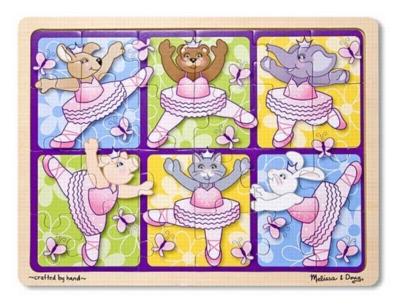 Jigsaw Puzzles For Kids - Wooden - Ballerinas & Butterflies