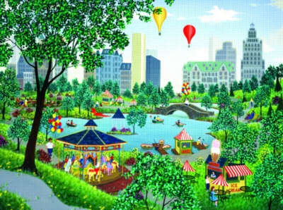 At the Park - 1000pc Jigsaw Puzzle By Sunsout