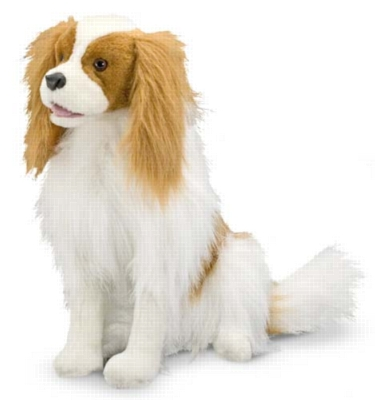"Cavalier King Charles Spaniel - 17"" High, Sitting Plush Dog by Melissa & Doug"