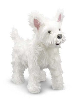 """West Highland Terrier - 15"""" Tall, Standing Plush Dog by Melissa & Doug"""