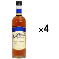Davinci Sugar Free Flavored Syrups - 750 ml. Plastic Bottle Case