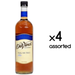 Davinci Sugar Free Flavored Syrups - 750 ml. Plastic Bottle Assorted Case