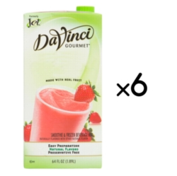 Jet Davinci Real Fruit Smoothies - 64 oz. Carton Case