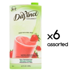 Jet Davinci Real Fruit Smoothies - 64 oz. Carton Assorted Case