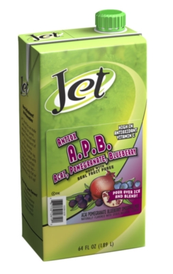 Jet Fruit Smoothie: Acai, Pomegranate, and Blueberry - 64 oz. Carton