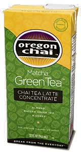 Oregon Chai: Matcha Green Tea - 32 oz. Carton