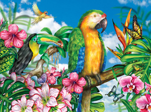 Parrot-Dise - 1000pc Jigsaw Puzzle by Great American Puzzle Factory
