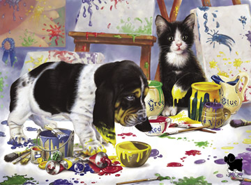 Playing in Paint - 300pc Jigsaw Puzzle by Ravensburger