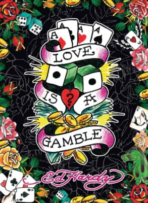 Ed Hardy: Love is a Gamble - 500pc Jigsaw Puzzle by Ravensburger