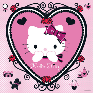 Hello Kitty: Romantic Roses (Heart in a Square) - 500pc Jigsaw Puzzle by Ravensburger
