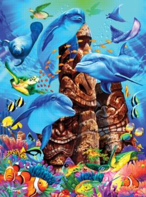 Tiki Gods - 1000pc Jigsaw Puzzle by Ravensburger